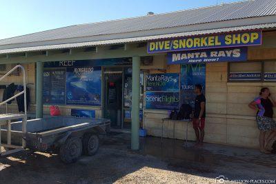 Das Tauchcenter von Ningaloo Reef Dive