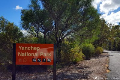 The entrance to Yanchep National Park