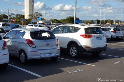 Return of our car at Europcar