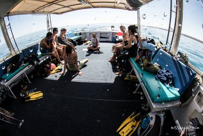 The briefing on the boat