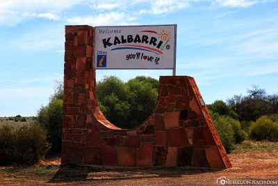 The entrance to Kalbarri National Park