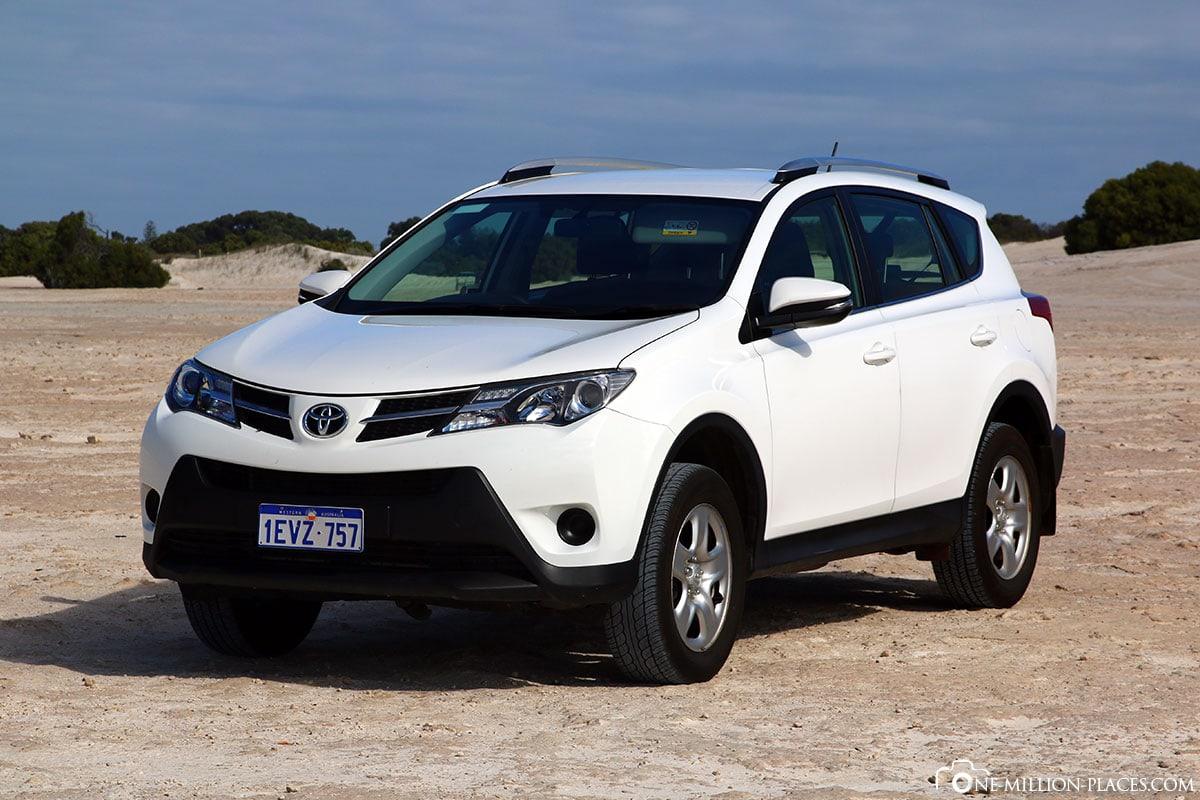 Mietwagen, Sanddünen, Lancelin, Australien, Bundesstaat Western Australia, Auf eigene Faust, Reisebericht