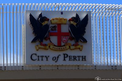 The coat of arms of the city