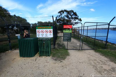 The entrance to Heirisson Island