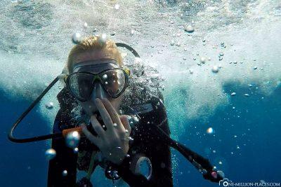 Hinein ins karibische Wasser