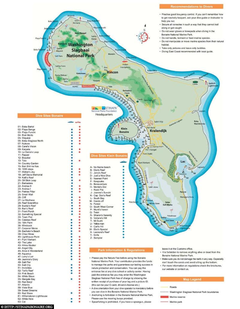 Map, Diving, Bonaire, Caribbean, AIDA Cruise, Travel Report