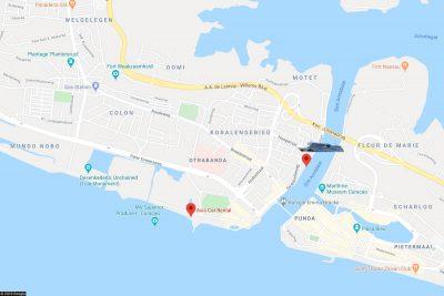 The location of AIDA and Avis Car Rental