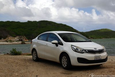 Our rental car for Curacao