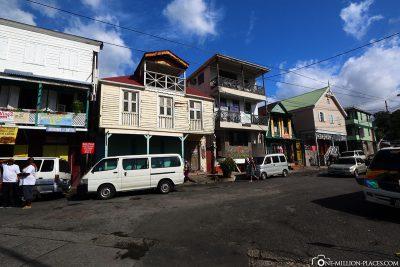 Das karibische Städtchen Roseau