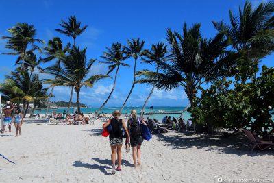 The beach of Playa Blanca