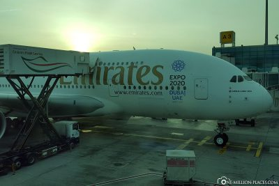 Our flight to Dubai with Emirates A380