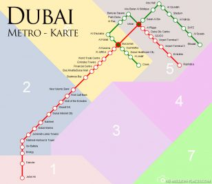 Die Metrolinien in Dubai