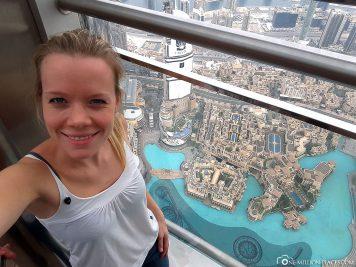 The observation deck at Burj Khalifa