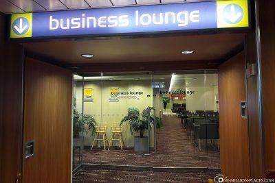 Der Eingang zur Business Lounge
