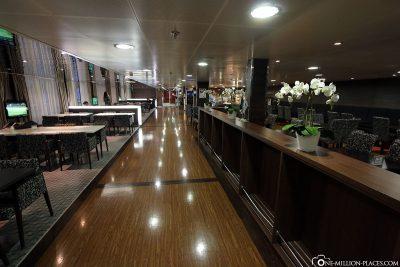 Die Business Lounge der M/S Superstar