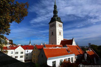 Blick vom Domberg auf die Nikolaikirche