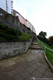 Die Treppen zum Domberg