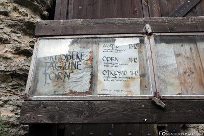 Der kostenlose Zutritt in den Turm
