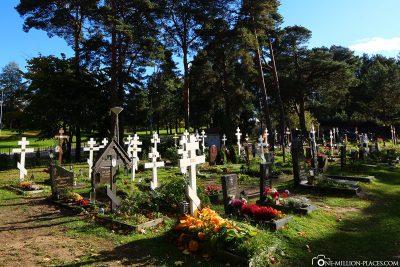 Friedhof im Väinämöisen Park