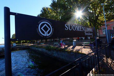 Ankunft in Suomenlinna