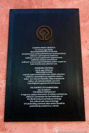 Infotafel UNESCO Weltkulturerbe