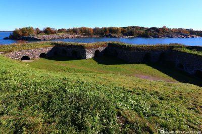 Die Festungsanlage im Süden der Insel