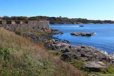 Die Festungsanlage auf Kustaanmiekka