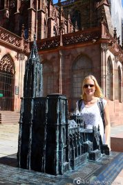 The miniature in front of Strasbourg Cathedral