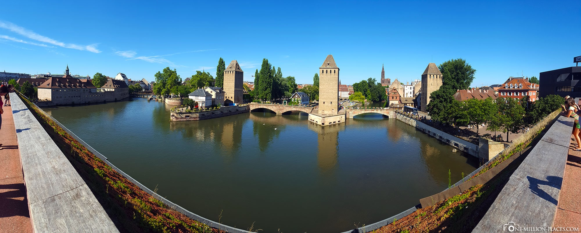 Panoramic view of the viewing terrace Barrage Vauban, city of Strasbourg, France, On your own, photo spots, travelreport