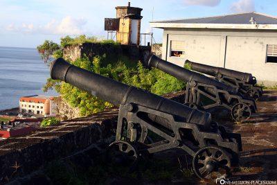 Die Kanonen der Festung