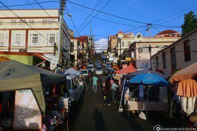 Der Wochenmarkt am Market Hill