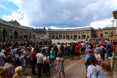 The crowds at the changing of the guard