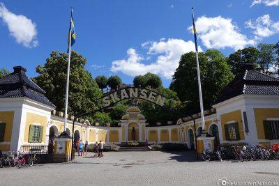 The entrance to the open-air mudeum Skansen