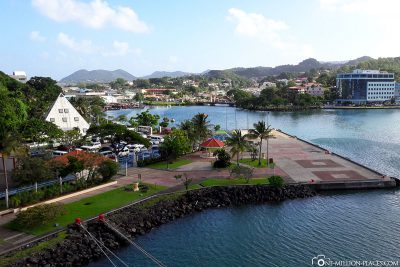 The Cruise Ship Terminal in Castries