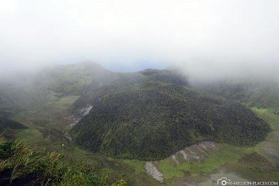 The volcano La Soufriere