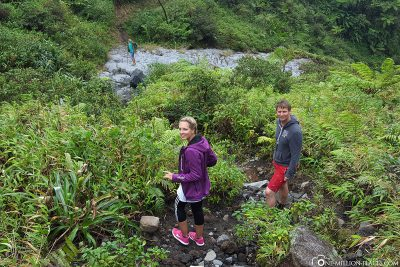 The descent from the volcano