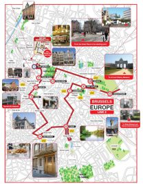 The Red Sightseeing Route in Brussels