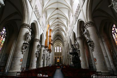 The main nave of the cathedral