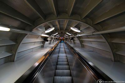 Die Rolltreppe im Atomium