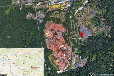 The location of the Messel mine near Darmstadt