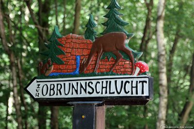 Signpost to the Obrunn Gorge