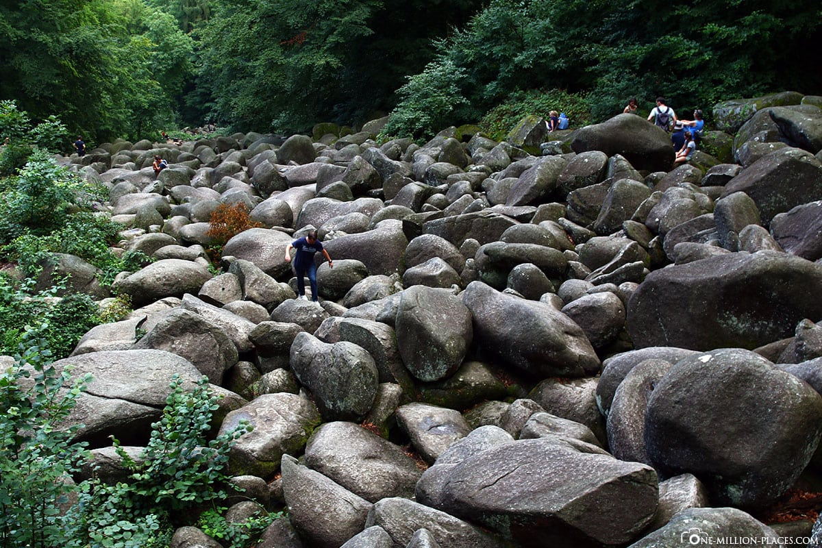 Felsenmeer, Felsenlandschaft, Quarzdiorit, Lautertal, Felsberg, Odenwald, Hessen, Deutschland