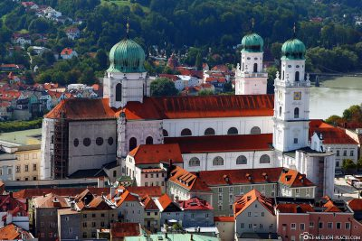 St. Stephen's Cathedral in the old town of Passau