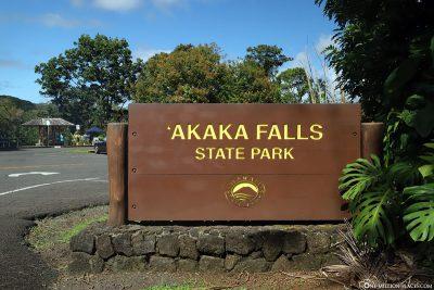 Eingang zum Akaka Falls State Park