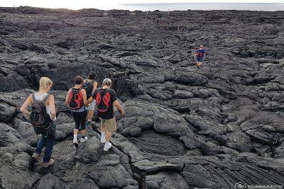 Wanderung über die Lavafelder