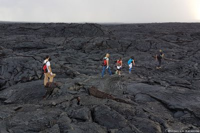 Hike over the lava fields