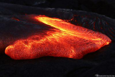 Der 61G Lava Flow in Kapalana
