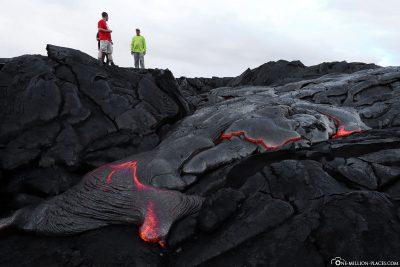 Wanderung auf den Lavafeldern
