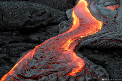 Lava flow on Big Island