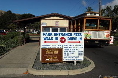 The entrance to Diamond Head